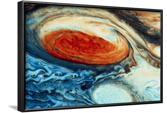 False-col Jupiter's Great Red Spot--Framed Photographic Print