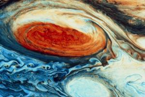 False-col Jupiter's Great Red Spot