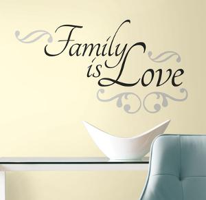 Family is Love Peel & Stick Wall Decals