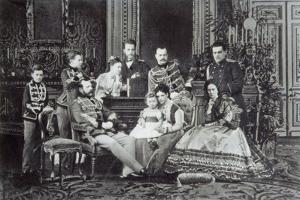 Family Portrait of Tsar Alexander II of Russia, 1860S