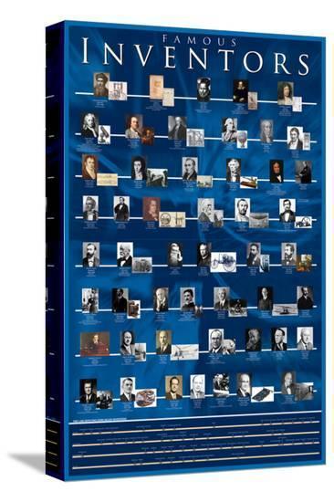 Famous Inventors--Stretched Canvas