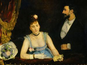 Famous Spanish Dancer Eva Gonzales in a Box at the Italians' Theatre, Paris, 1874