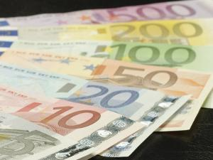 Fan of Traditional Euro Banknotes