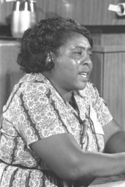 Fannie Lou Hamer, African-American Civil Rights Leader in 1964