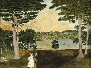 View of Skeneatless Village, 1832 by Fanny Coney