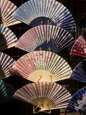 Fans for Sale at a Market Stall, Kyoto Prefecture, Japan