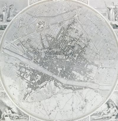 Map of Florence, 1843 and 1866