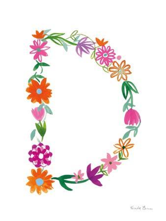 Floral Alphabet Letter IV by Farida Zaman