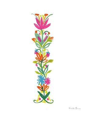 Floral Alphabet Letter IX by Farida Zaman