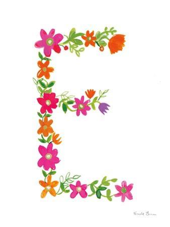 Floral Alphabet Letter V by Farida Zaman