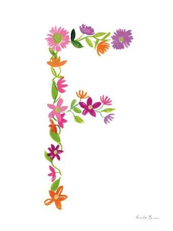 Floral Alphabet Letter VI by Farida Zaman