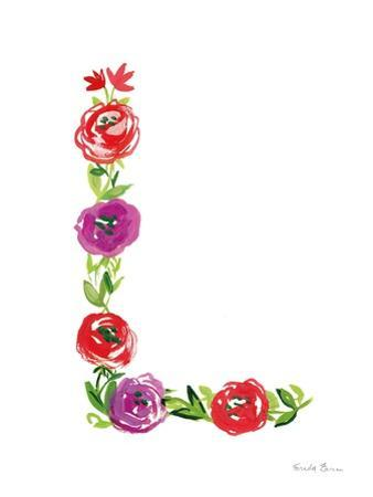Floral Alphabet Letter XII by Farida Zaman
