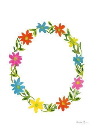 Floral Alphabet Letter XV by Farida Zaman