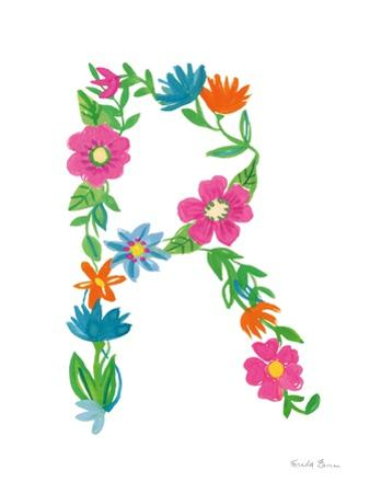 Floral Alphabet Letter XVIII by Farida Zaman