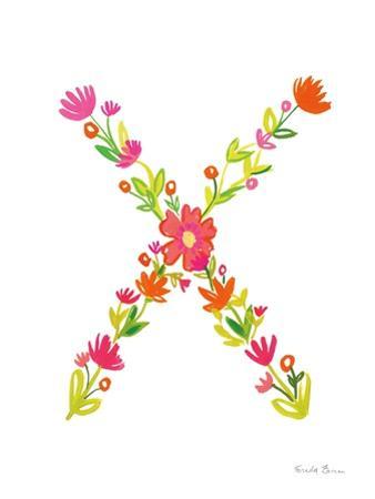 Floral Alphabet Letter XXIV by Farida Zaman