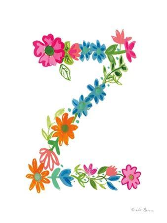 Floral Alphabet Letter XXVI by Farida Zaman