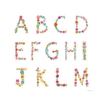Floral Alphabet Sq I