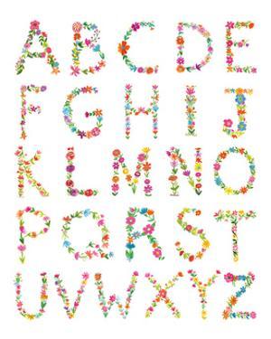 Floral Alphabet by Farida Zaman