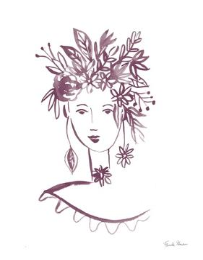 Flower Girl I Plum by Farida Zaman