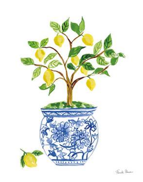 Lemon Chinoiserie I by Farida Zaman