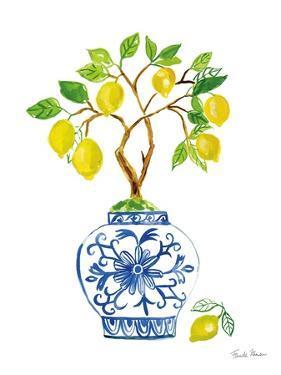 Lemon Chinoiserie II by Farida Zaman