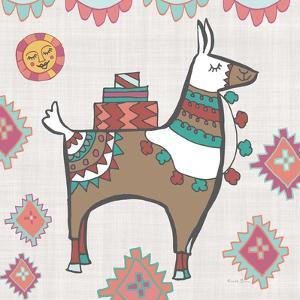 Playful Llamas I by Farida Zaman