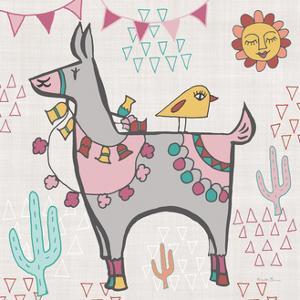 Playful Llamas II by Farida Zaman