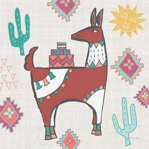 Playful Llamas IV by Farida Zaman