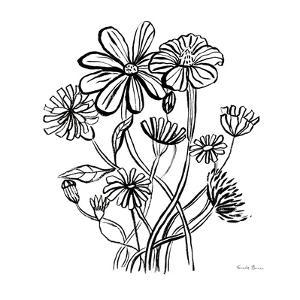 Wild Flowers Line I by Farida Zaman