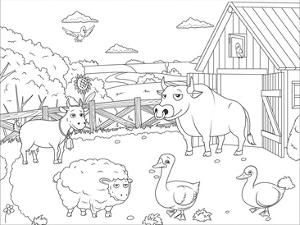 Farm - Kids Design Coloring Art