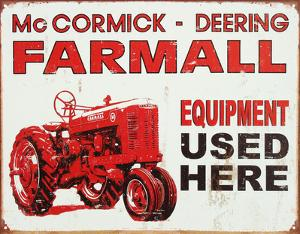 Farmall Tractor Equipment Used Here