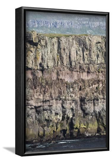 Faroes, Sandoy, rocks, detail-olbor-Framed Photographic Print