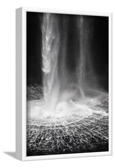 Faroes, Vagar, Gasadalur, waterfall-olbor-Framed Photographic Print