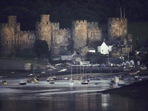 Massive, Eight-Towered Conwy Castle and its Walled Garrison Town by Farrell Grehan