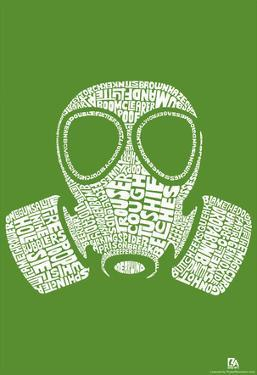 Fart Names Gas Mask Text Poster