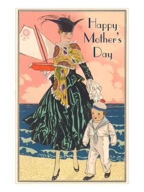Fashion Mom with Sailor Boy