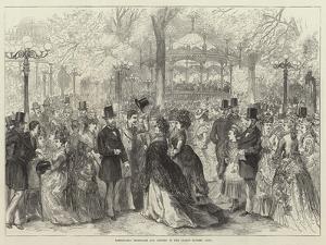 Fashionable Promenade and Concert in the Champs Elysees, Paris