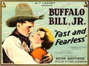 FAST AND FEARLESS, from left: Jay Wilsey (aka Buffalo Bill Jr.), Jean Arthur, 1924