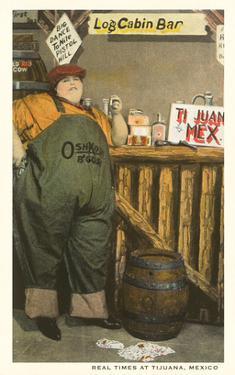 Fat Lady at Log Cabin Bar, Tijuana, Mexico