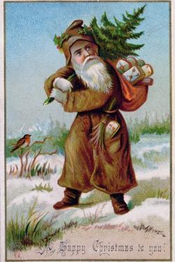 Father Christmas, Victorian Christmas Card