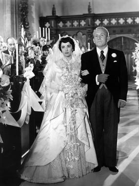 FATHER OF THE BRIDE, 1950 directed by VINCENTE MINNELLI Elizabeth Taylor / Spencer Tracy (b/w photo