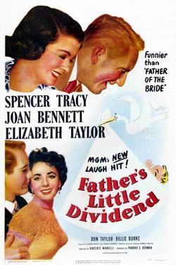 Father's Little Dividend, Joan Bennett, Spencer Tracy, Don Taylor, Elizabeth Taylor, 1951