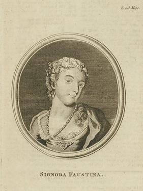 Faustina Hasse, born Bordoni (1697-1781), 1777