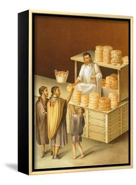 Reproduction of a Fresco Depicting a Baker, from the Houses and Monuments of Pompeii by Fausto and Felice Niccolini