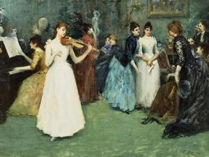 The Musical Party by Fausto Zonaro