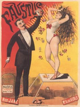 Faustus, Magic Act Poster