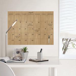 Faux Hardwood Dry Erase Calendar