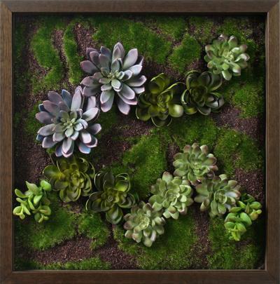 Faux Succulent Lavender Mini Garden II