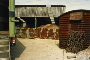 Outbuildings Made Of Corrugated Metal by Fay Godwin