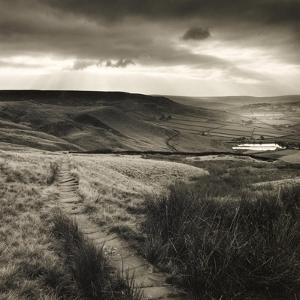 Path and Reservoir Above Lumbutts in Yorkshire. Photographed For 'Remains Of Elmet' by Ted Hughes by Fay Godwin